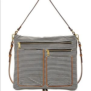 Fossil Large Piper Striped Crossbody